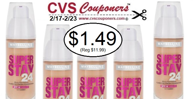 http://www.cvscouponers.com/2019/02/maybelline-superstay-foundation-cvs-deal.html