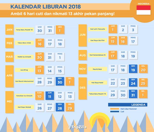 kalender cuti bersama 2018