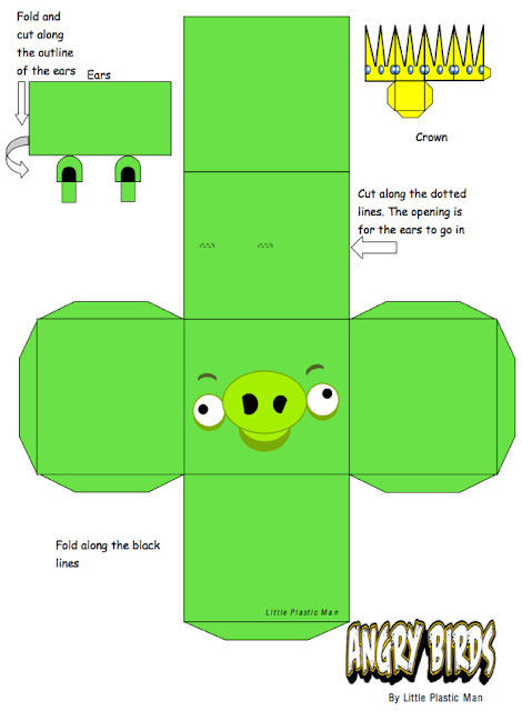 angry bird pig template - blog mengenai paper toy