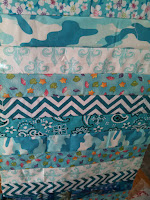 ProsperityStuff Quilt Weather Quilt leftovers - aqua