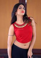 Nishi Gandha in Beautiful Red Crop Top ~  Exclusive 015.jpg