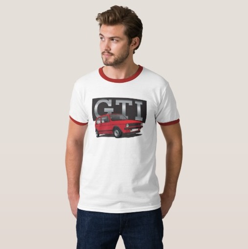 Volkswagen Golf GTI MK1 hot hatch t-shirt