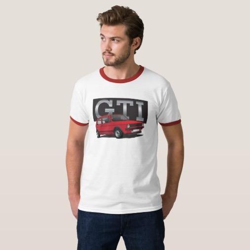 Volkswagen Golf GTI MK1 hot hatch t-shirt