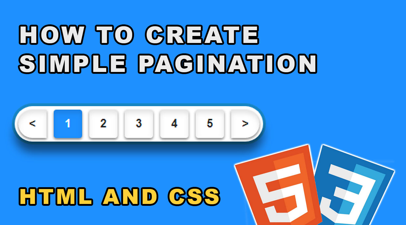 Create Simple Pagination HTML CSS - How-To Tutorials