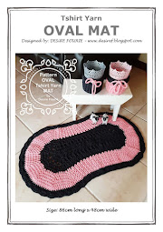 {Doing Life} TSHIRT YARN OVAL MAT PATTERN