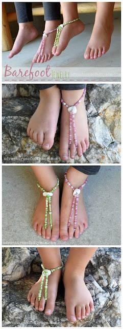 DIY barefoot jewelry