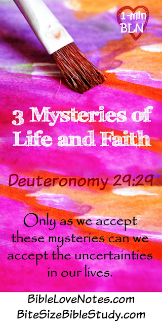 We Must Trust God With These 3 Mysteries of Life