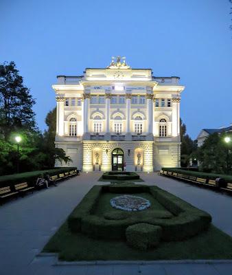 University of Warsaw at night