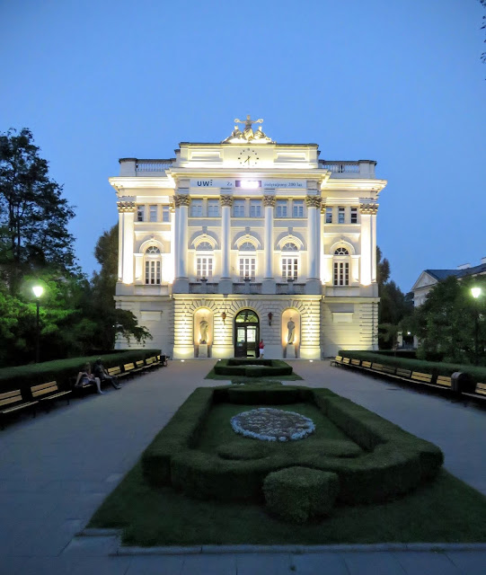 University of Warsaw at night