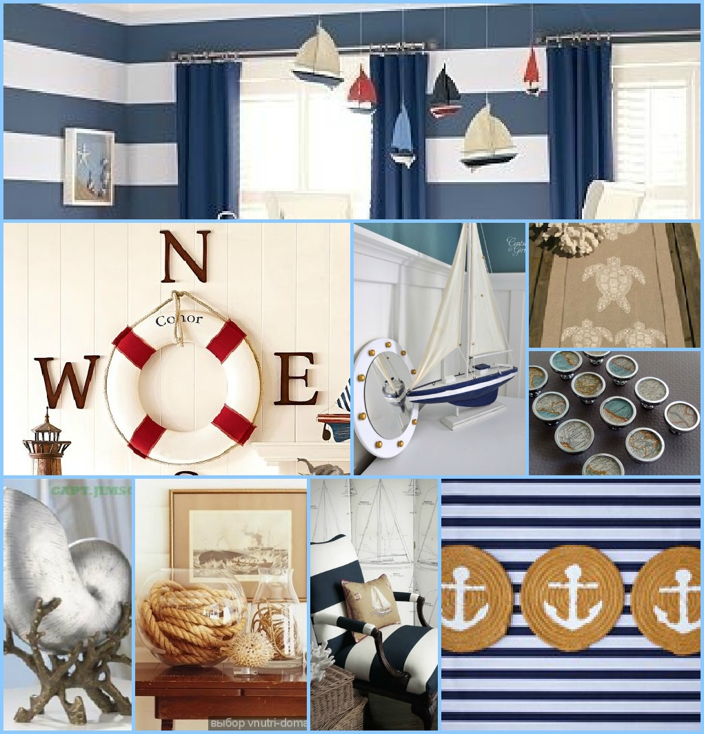 Evey's Creations: Nautical-themed Room Inspiration Board