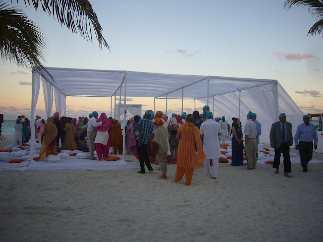 Anand Karaj Sikh Wedding on Beach Riviera Maya Mexico