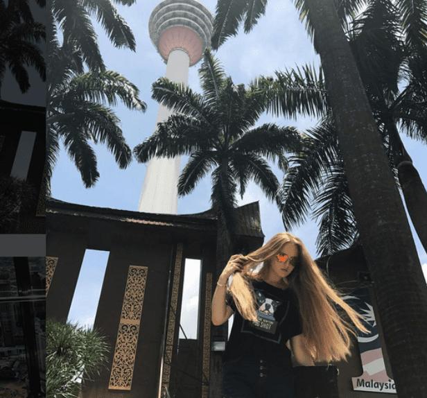 Oksana Neveselaya in Malaysia