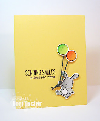 Sending Smiles card-designed by Lori Tecler/Inking Aloud-stamps and dies from Mama Elephant