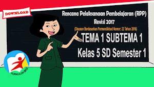 RPP Tematik Kelas 5 Tema 1 Sub Tema 1 Kurikulum 2013 Revisi 2017