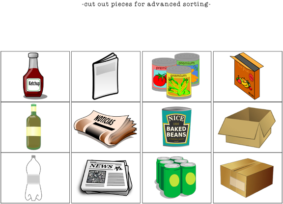 Sorting Recyclables Free Printable
