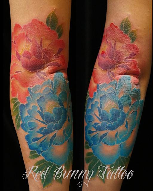 peony tattoo  flower 花 牡丹 タトゥー 刺青