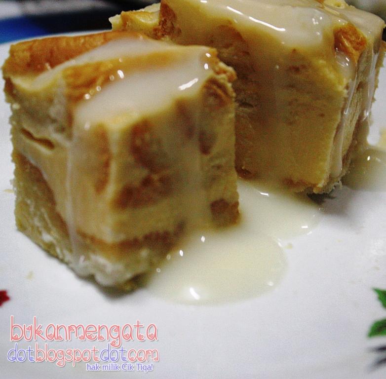 resepi puding roti mudah senang  sedap belog cik tiqa Resepi Puding Roti Air Fryer Enak dan Mudah