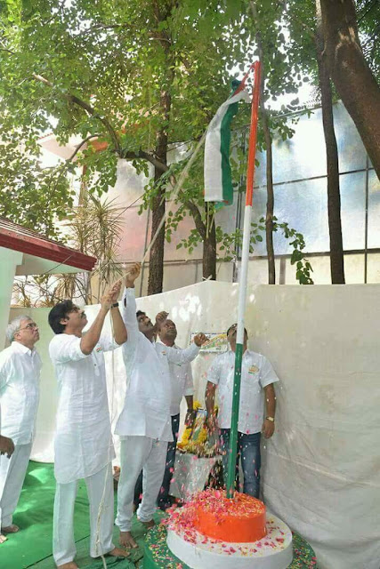 Pawan Kalyan Flag hoisting at JanaSena Party office