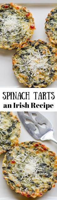 Spinach Tarts, an Irish Recipe