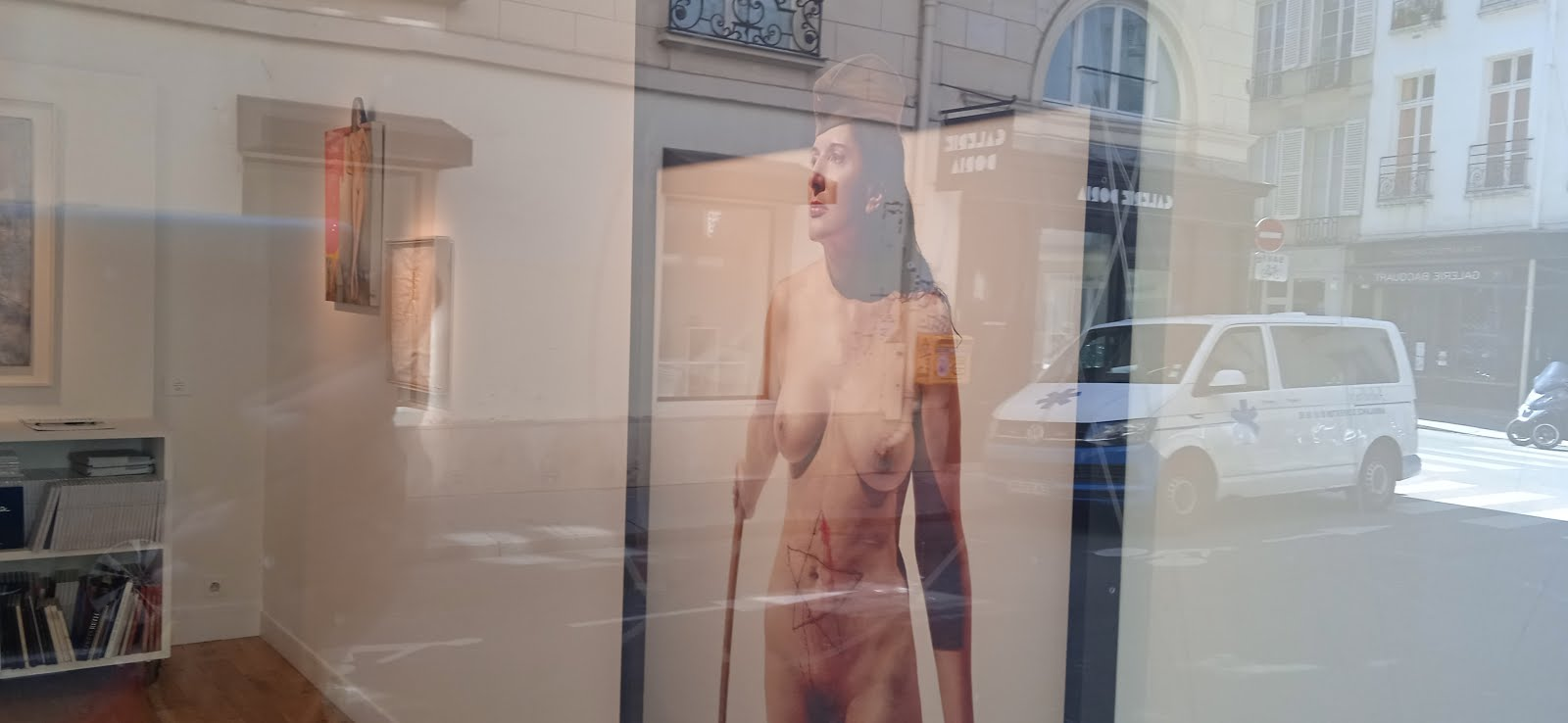 Marina nude in paris corner seine and beauxarts