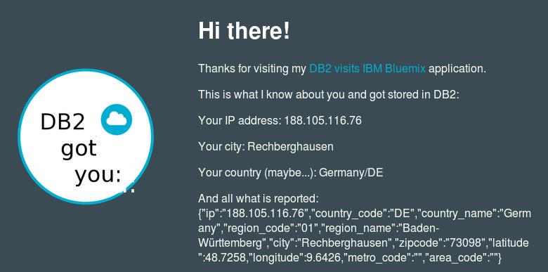 Data Henrik: Sample IBM Bluemix Application: Extended IP