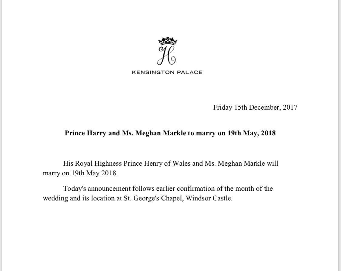 Ślub księcia Harry'ego i Meghan Markle 19 maja 2018 roku!
