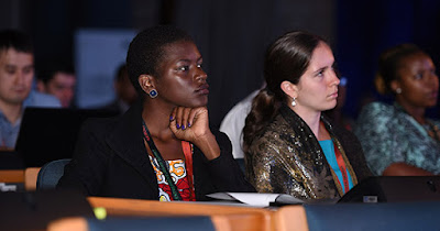 Women entrepreneurs attending business conference