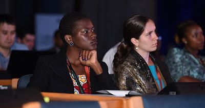 Women entrepreneurs attending business conference
