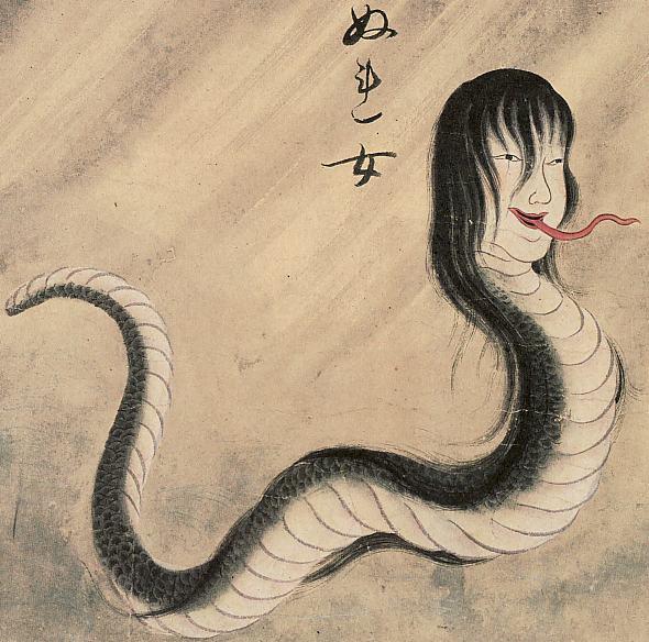 佐脇嵩之『百怪図巻』より「ぬれ女」