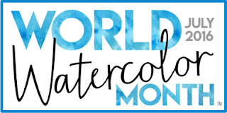 Tag your art #WorldWatercolorMonth to participate everyday in July