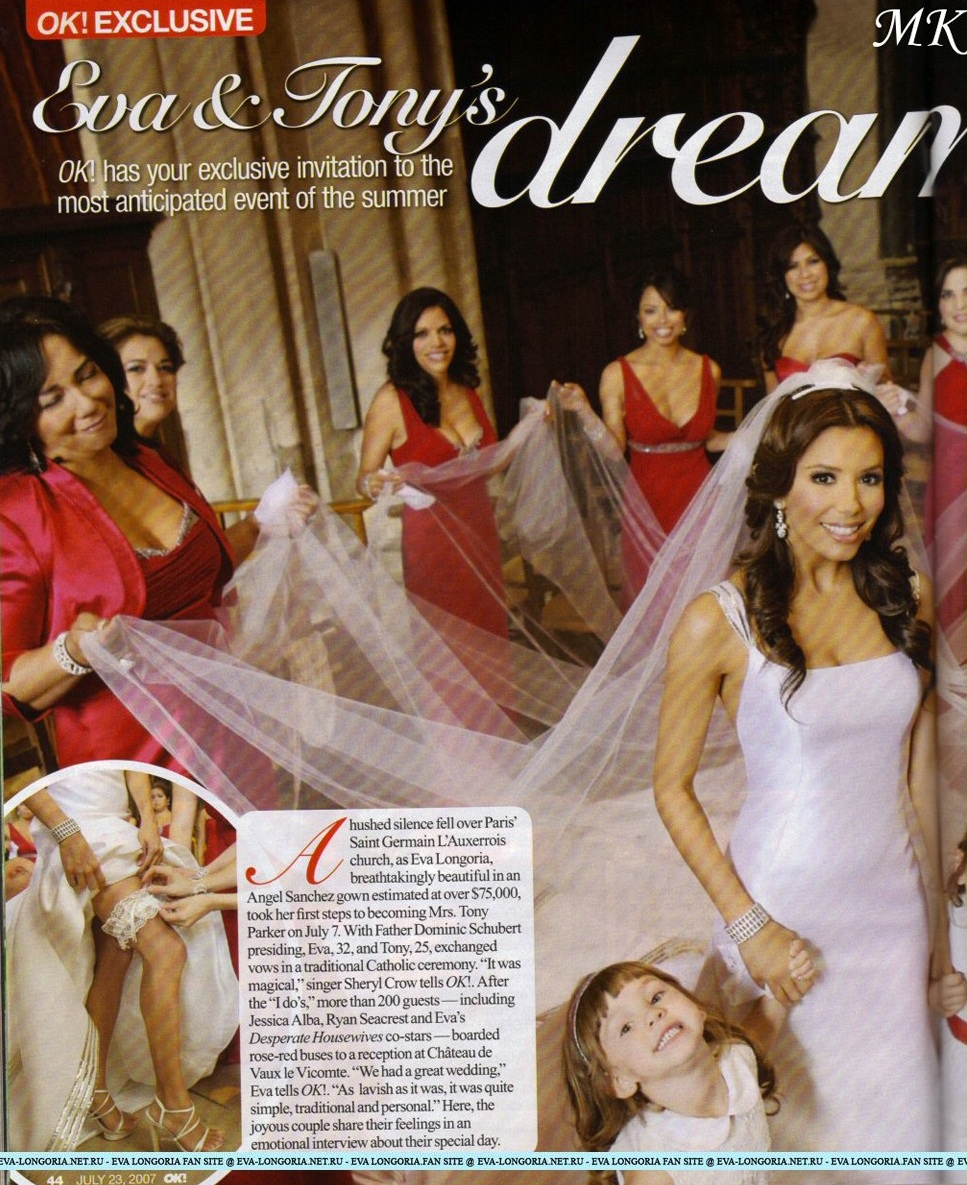 8013c6f4b02 Celebrity Wedding- Eva Longoria and Tony Parker - WEDDING FASHION