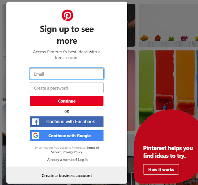 PINTEREST-LOG-IN