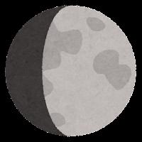 月の満ち欠けのイラスト11