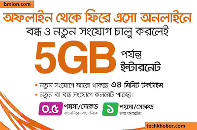 Banglalink-5GB-Free-internet-on-New-Prepaid-Sim-Connection-110Tk-Lowest-call-Rates-at-34Tk-Recharge