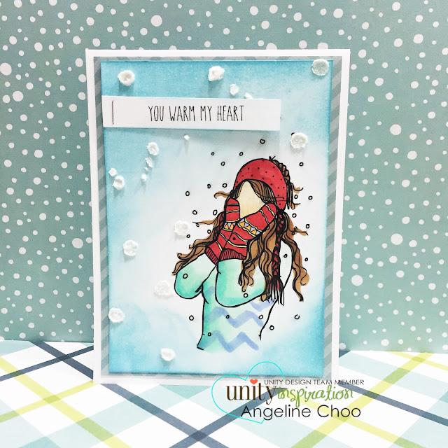 ScrappyScrappy: Big Blog Hop + [NEW VIDEOS] with Unity Stamp - Christmas card Glitter Snow paste #scrappyscrappy #unitystampco #card #cardmaking #christmas #holiday #papercraft #glittersnow #timholtz #distressink #copic #stamp #stamping
