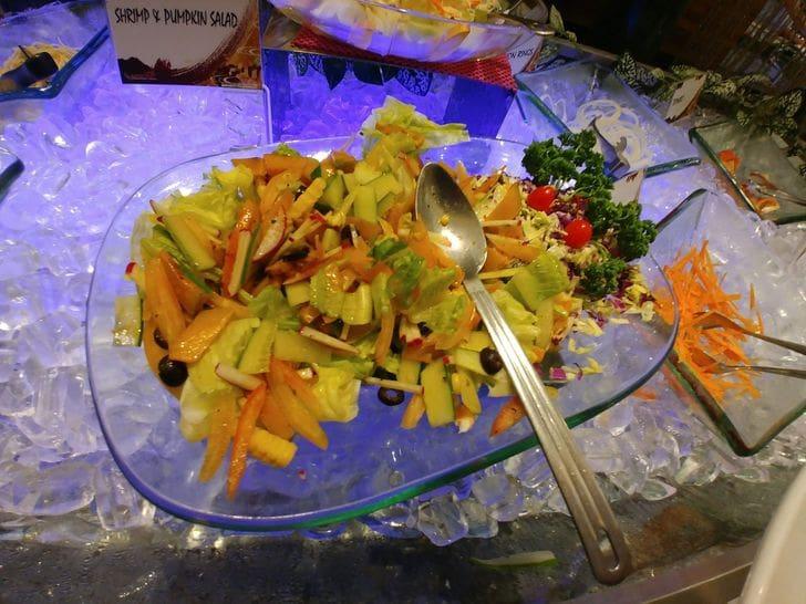 Mediterranean salad at Buffet 101 Restaurant