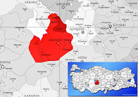 Aksaray Ortaköy ilçesinin nerede olduğunu gösteren harita