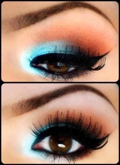 Preferenza BloggingBeauty07: Tutorial: Makeup blu e arancio VI44