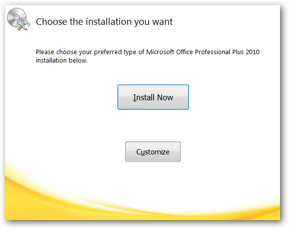 Microsoft Office Installation - Please choose your preferred type of Microsoft Office installation.