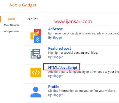 Add-html-gadget