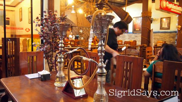 shisha at Kabbara Cafe