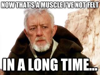 Obi Wan hasn't felt his running muscles in a long time.