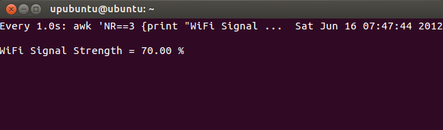Display WiFi Signal Strength In Real-Time On The Terminal - Ubuntu/Linux