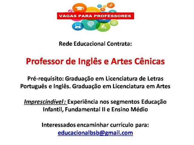 Professor de Inglês e Artes Cênicas