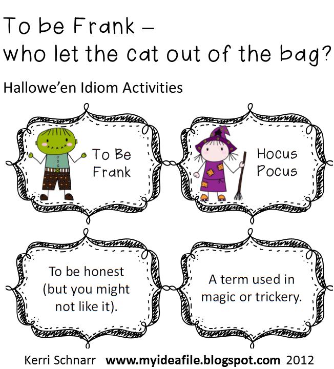 My Idea File: Hallowe'en Word Work and Descriptive Writing