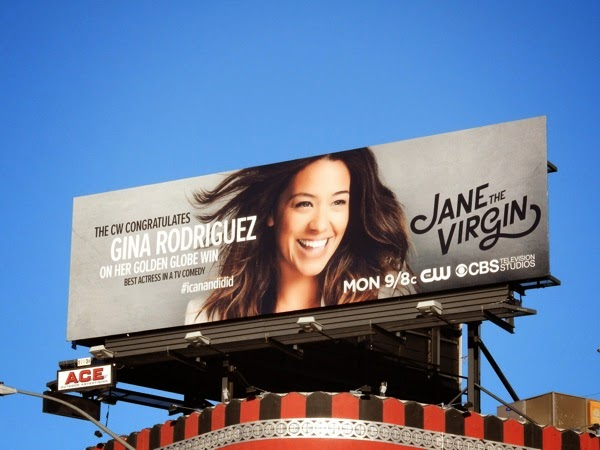 Gina Rodriguez Jane Virgin Golden Globe billboard