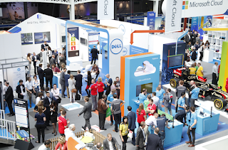 Photo of the exhibition area as Cloud World Forum London 2014