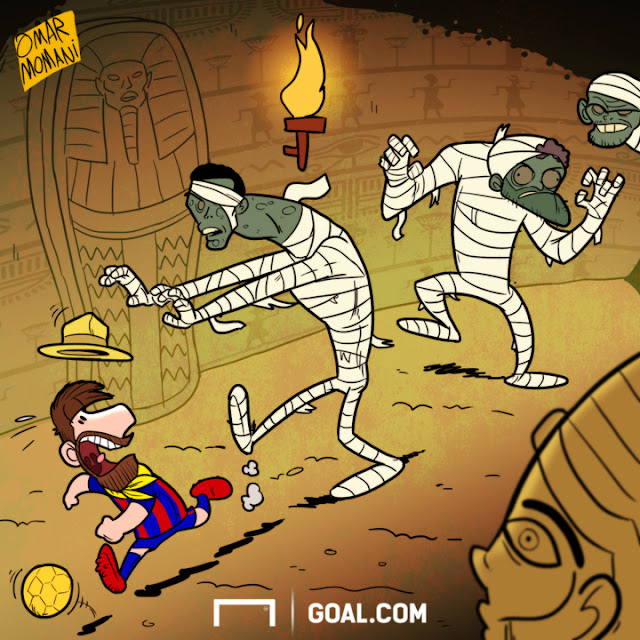 Messi and the mummy