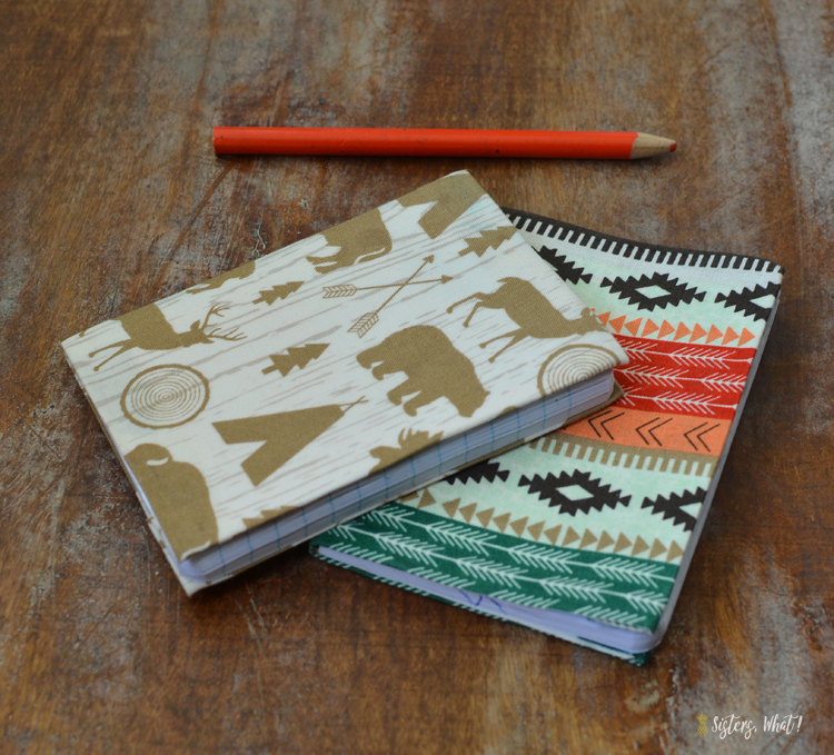 diy nature books with old notebooks