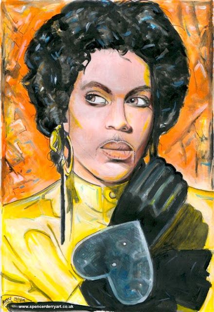 Fine portrait of the late musician Prince in his 1987 look